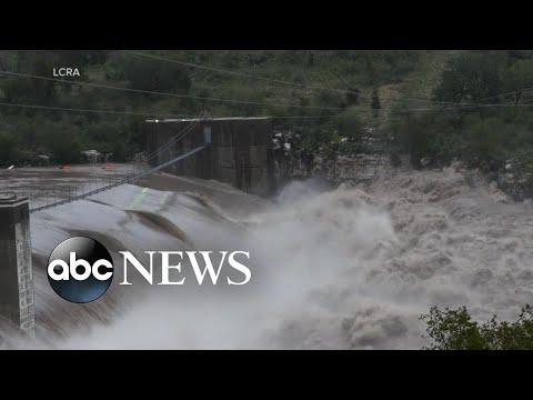 Rising rivers, drenching rain slam Texas