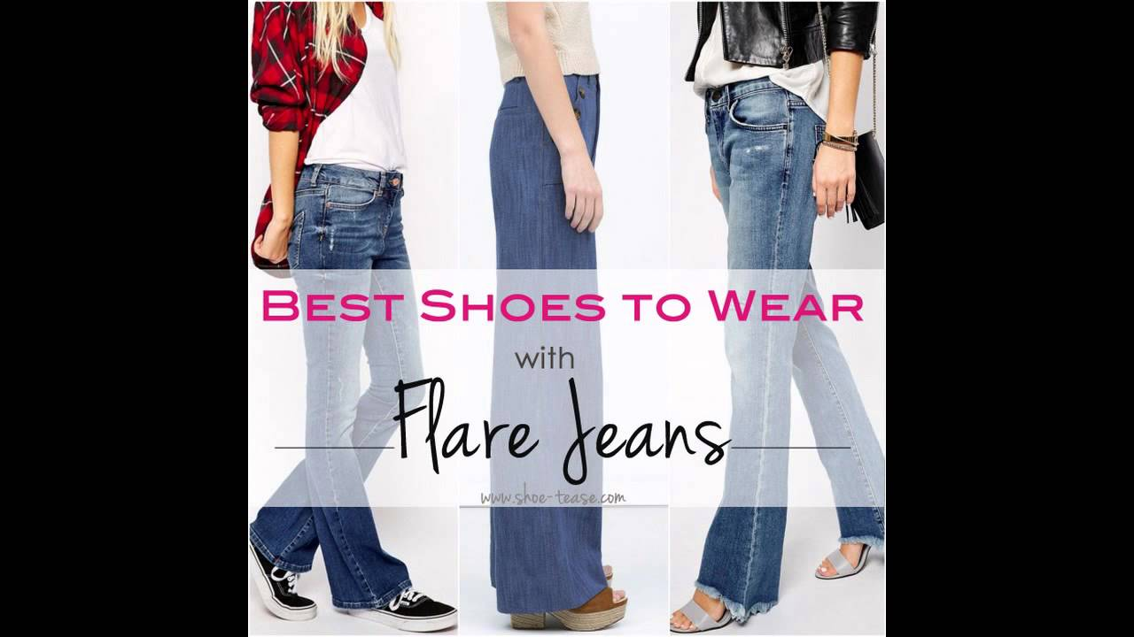 What Shoes to Wear with Flared Jeans - YouTube