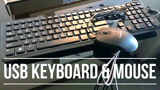 AmazonBasics Wired Keyboard and Mouse Bundle Pack Review