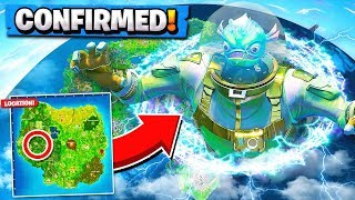 The Fortnite MONSTER Confirmed! | *NEW* Purple Mountains Forming! ( Season 5 Leviathan Leaked )