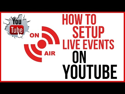 How To Schedule and Setup A Live Event On YouTube - YouTube Tutorial