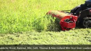 Sidewinder Mini Skid Steer Loader Flail Mower