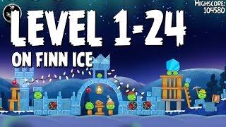 Angry Birds Seasons On Finn Ice 1-24 Walkthrough 3 Star