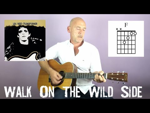 Lou Reed  Walk on the wild side  Guitar lesson  Joe Murphy