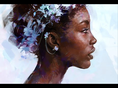 Painting a Digital Portrait in Photoshop - YouTube