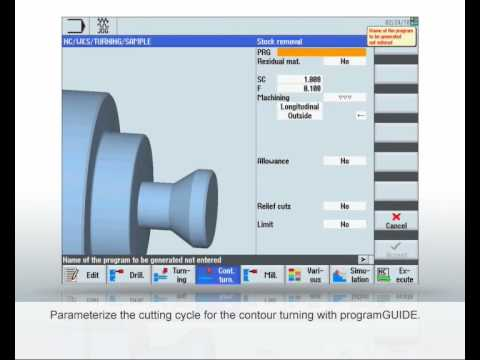 SINUMERIK Tutorial - programming with programGUIDE