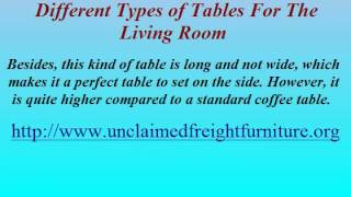 Different Types of Tables for the Living Room