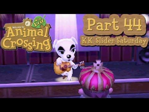 Animal Crossing: New Leaf - Part 44:  K.K. Slider Acoustic Saturday Night At Club LOL!