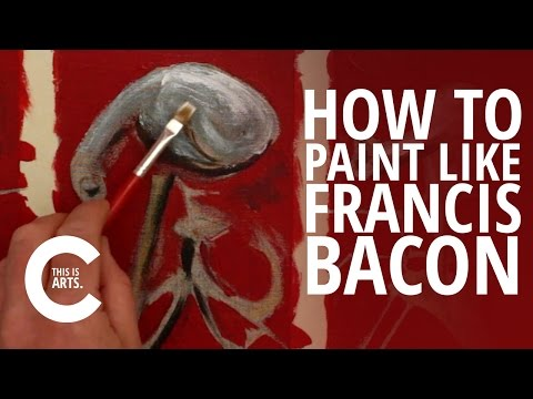 HOW TO PAINT LIKE FRANCIS BACON WITH CIRCLE LINE   CANVAS