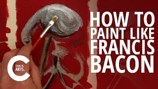 HOW TO PAINT LIKE FRANCIS BACON WITH CIRCLE LINE | CANVAS
