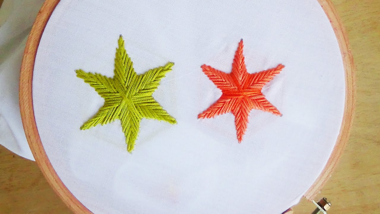 Hand embroidery star stitch youtube ccuart Choice Image