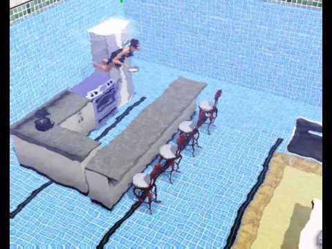 Sims 3 - Lust auf Spaß? - Wohnt doch mal im Pool - es geht tatsächlich!