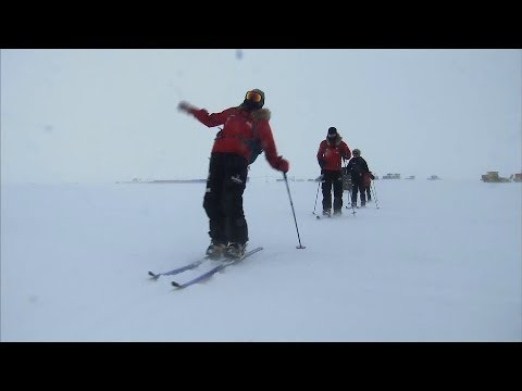 Prince Harry Takes A Tumble During Antarctic Charity Trek