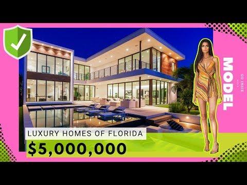 INSIDE luxury $5 Million dollar Home   Swimsuit MODEL x Modern Real Estate ( 2019 )