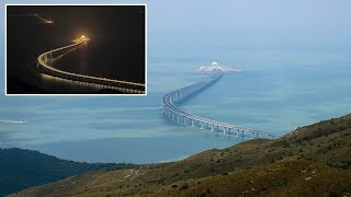 World's Longest Sea Bridge stretching 55 km & costs £14 billion connects Hong Kong to Mainland