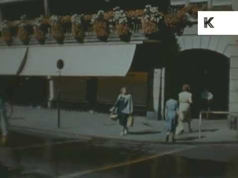 1940s Berne, Bern, Switzerland Colour Travelogue, Archive Footage