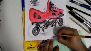 Drawing Rollerblade Twister 80 LE