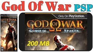 God Of War Ghost Of Sparta 200 MB PSP Game Highly Compressed Play Any Android Phone