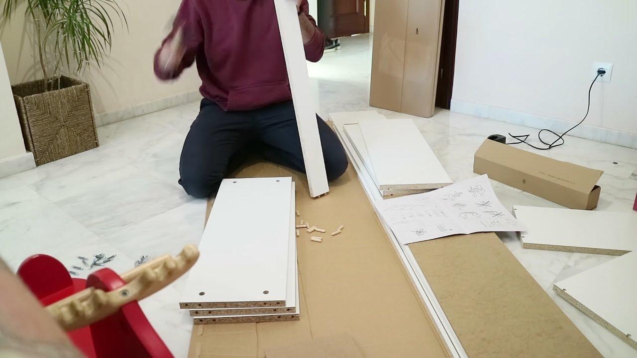 Ikea Puertas Estanteria Billy.Como Montar Una Estanteria Billy Con Puerta Ikea Youtube