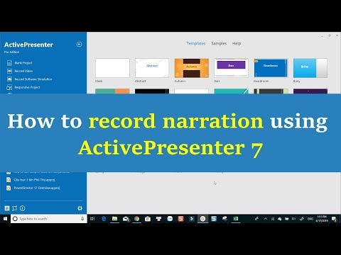 How to Record Narration using ActivePresenter