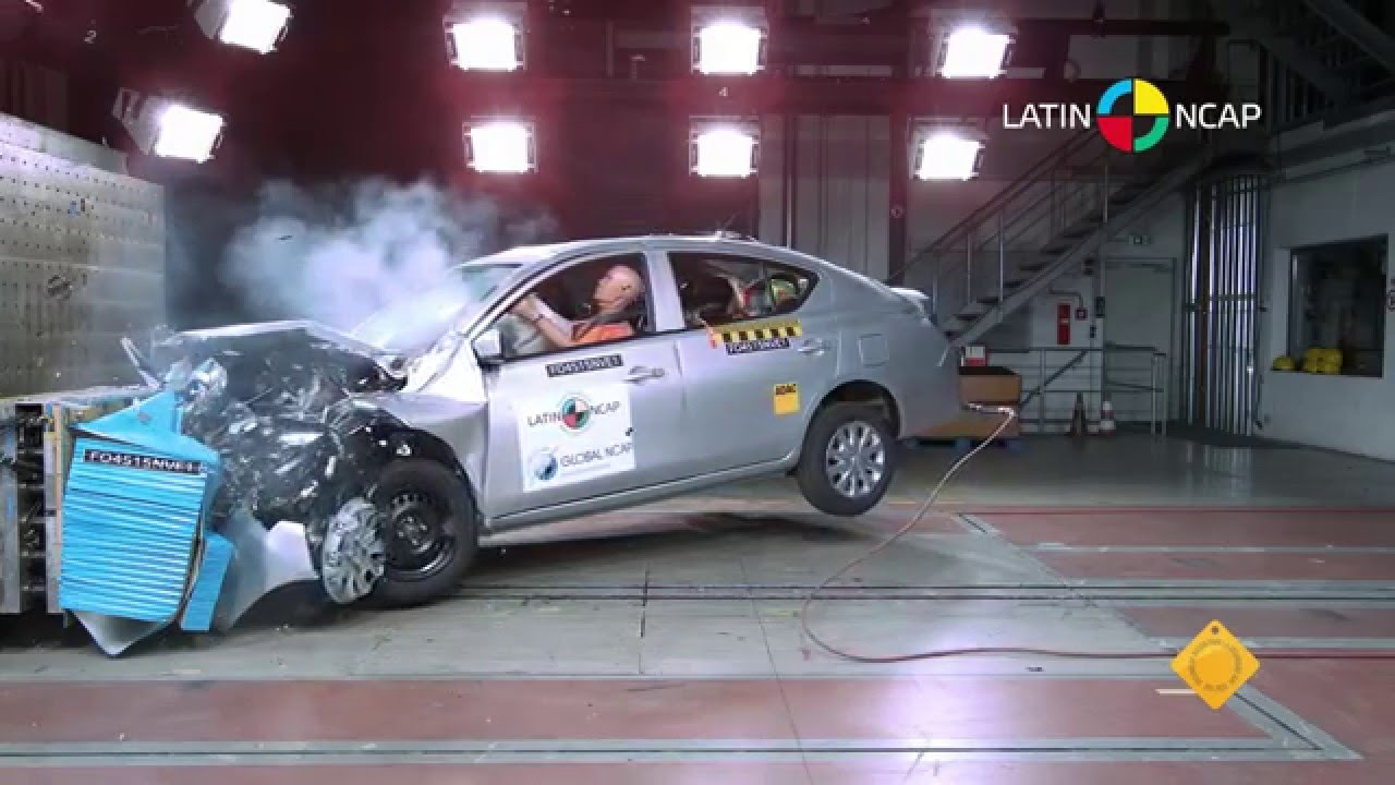 LATIN NCAP  Nissan Versa  2 Airbag  4 star safety rating  YouTube