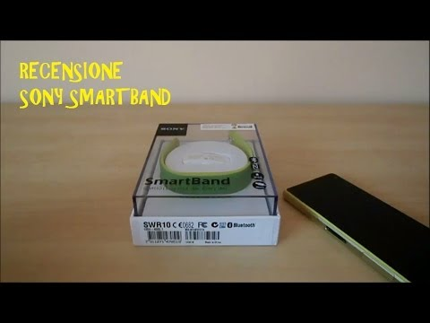 Sony smartband lifelog RECENSIONE review ITA