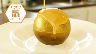 One of Topless Baker's most viewed videos: Gold Chocolate Melting Ball - Topless Baker
