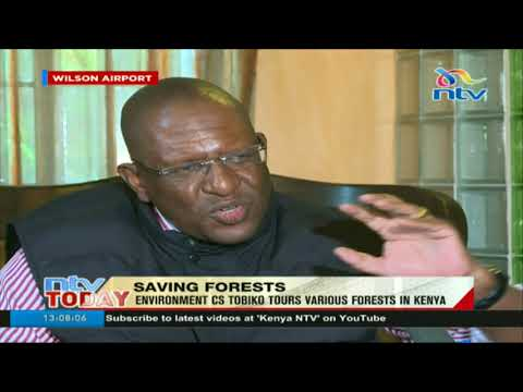 Environment CS Tobiko tours various forests to inspect damage