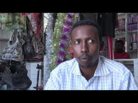 Shop owner in Mogadishu, Somalia.