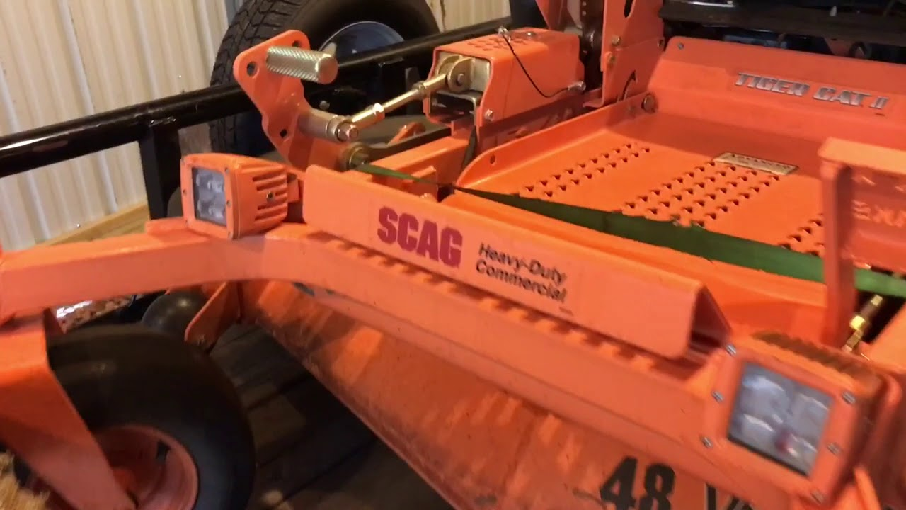 Led Lights Install On Zero Turn Mower Scag Tiger Cat