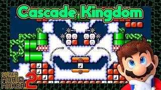 Super Mario Maker 2 - CASCADE KINGDOM from SUPER MARIO ODYSSEY [2/2]