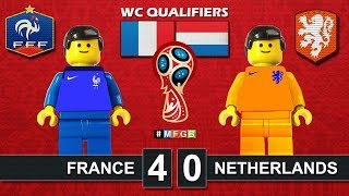 France vs Netherlands 4-0 • World Cup Russia 2018 Qualifiers (31/08/2017) Lego Highlights Pays-Bas