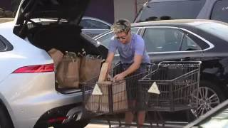 One Direction's  Niall Horan does what most boy banders on hiatus do....GROCERY SHOP