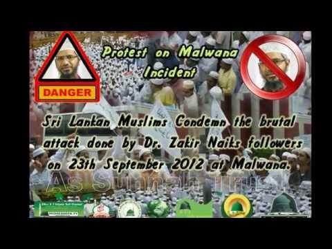 MUST WATCH How Zakir Naik's followers attack Hafiz Siraj Najahi in Malwana Sri Lanka