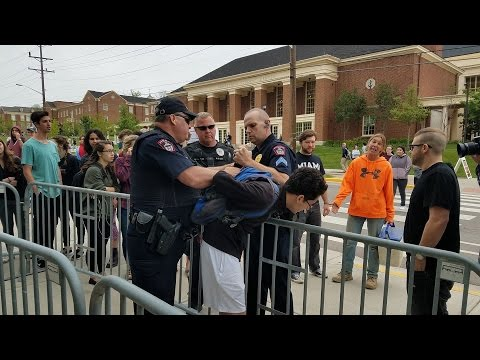 ANTIFA Miami University || Police Officer Punched || Arrest Made
