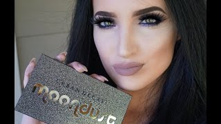 2016 urban decay moondust palette   swatches   review   tutorial
