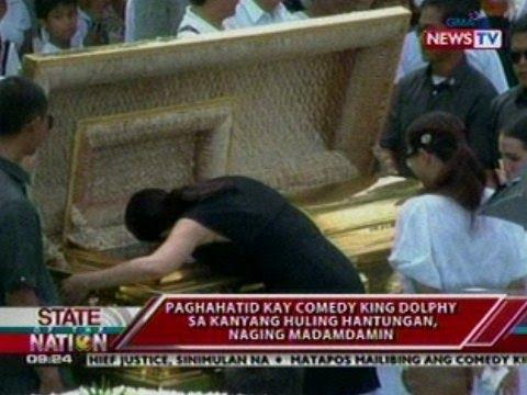 SONA: Paghahatid kay Comedy King Dolphy sa kanyang huling hantungan, naging madamdamin