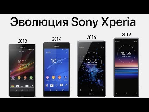 Эволюция Sony Xperia