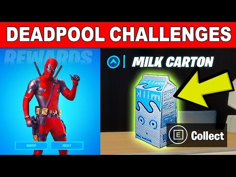 Find Deadpools Milk Carton - Deadpool Challenges Guide Week 2 (Fortnite)
