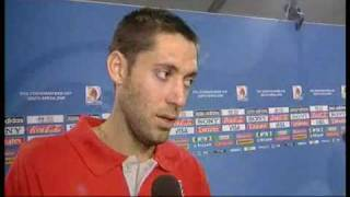 Interview with Clint Dempsey after the Brazil Game at the 2009 Confederations Cup