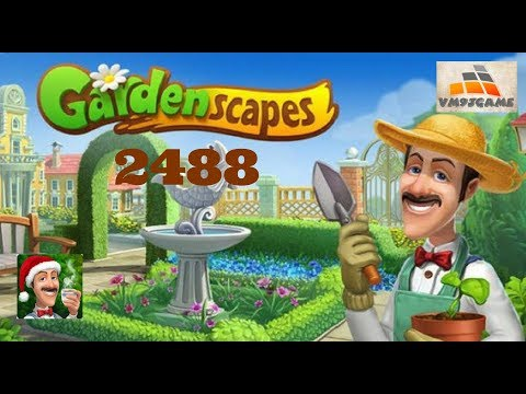 GARDENSCAPES Gameplay - Level 2488 (iOS, Android)