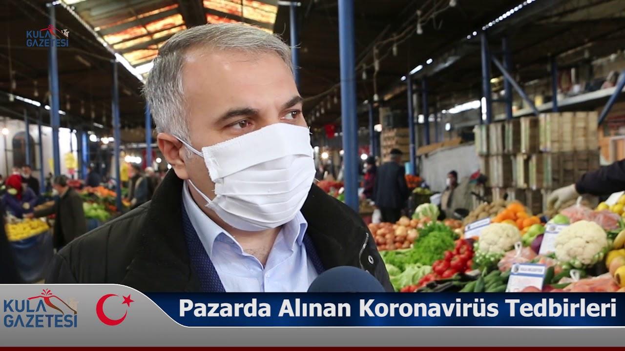 Pazarda Alınan Koronavirüs Tedbirleri