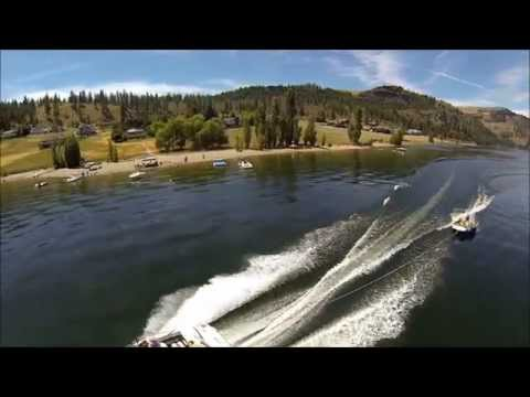 Lake Roosevelt Washington - Quadcopter Video - Hanson Harbor
