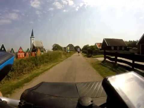Biking out of Den Hoorn, Texel, The Netherlands
