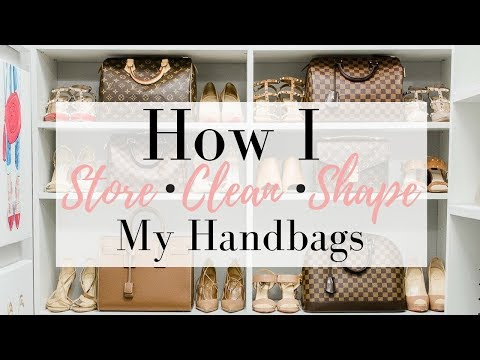 HOW I STORE MY HANDBAGS - Easy Cleaning Tips | LuxMommy