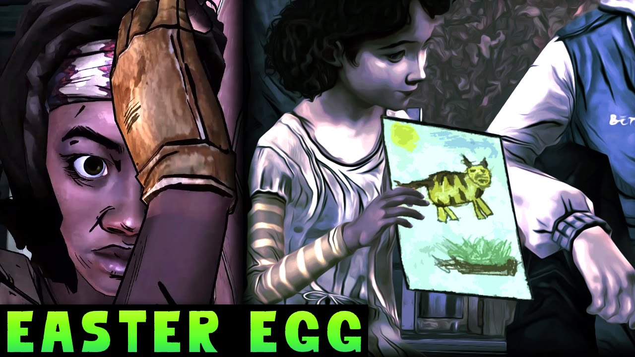 Clementine Drawing Easter Egg Walking Dead Michonne