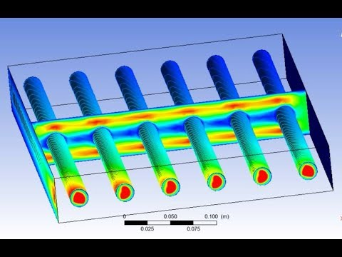 Fluid flow and Heat Transfer analysis,ANSYS CFD Tutorial