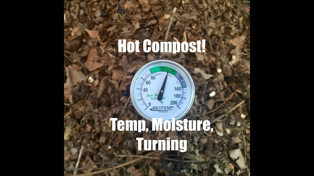 Hot Compost Pile Temperature Moisture And Turning The