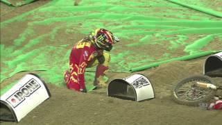 Tim Gajser second crash Monster Energy SMX Cup 2016