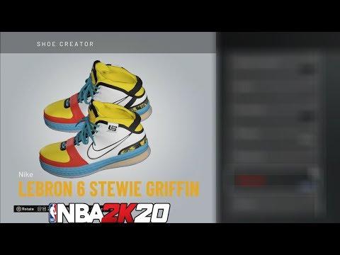 microfono Elettronico scottatura  NBA 2K20 Shoe Creator LeBron 6 Stewie Griffin 🔥👟🔌 - YouTube